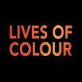 text reads 'lives of colour'