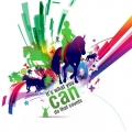 graphic of horses with a rider on one, small graphic of wheelchair user, text reads 'it's what you can do that counts'