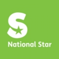 National star logo of a big 's' with 'National Star' underneath