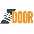 logo, text reads 'the door'