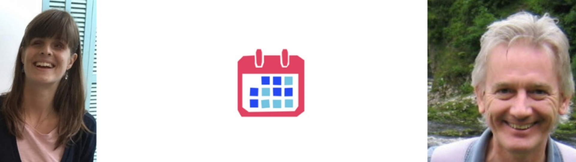 Two people and a calendar icon