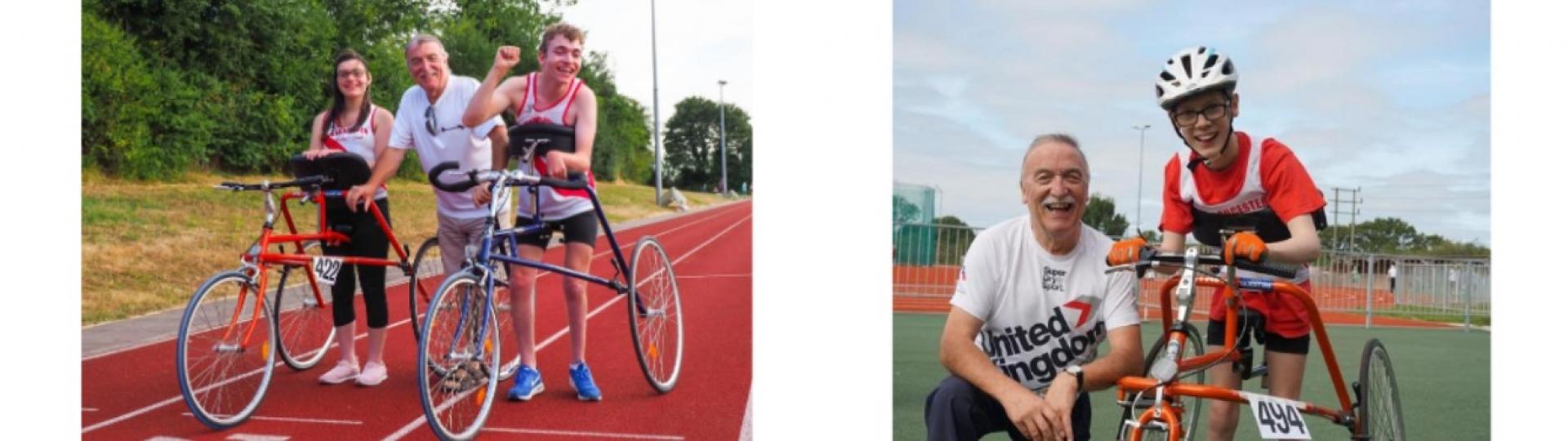 athletes on running track