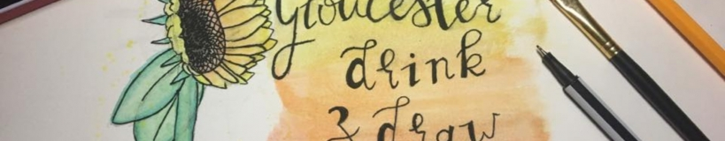banner for Gloucester drink and draw