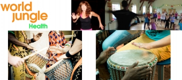 World Jungle banner for African drumming