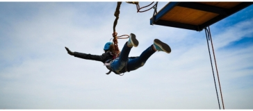 photo of person skydiving