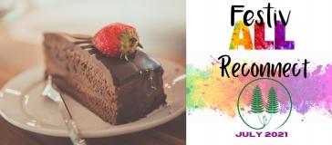 slice of cake next to Festivall logo