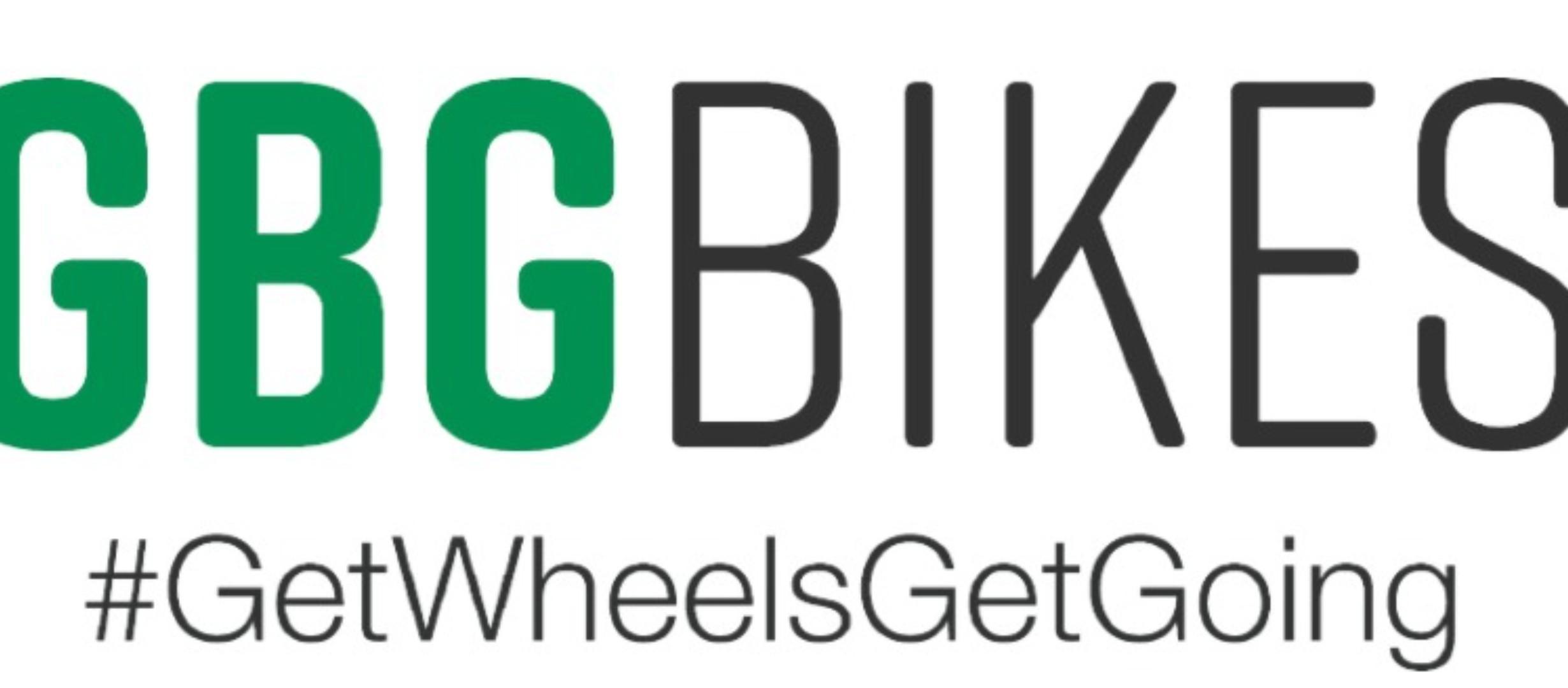 GBG Bikes logo and slogan