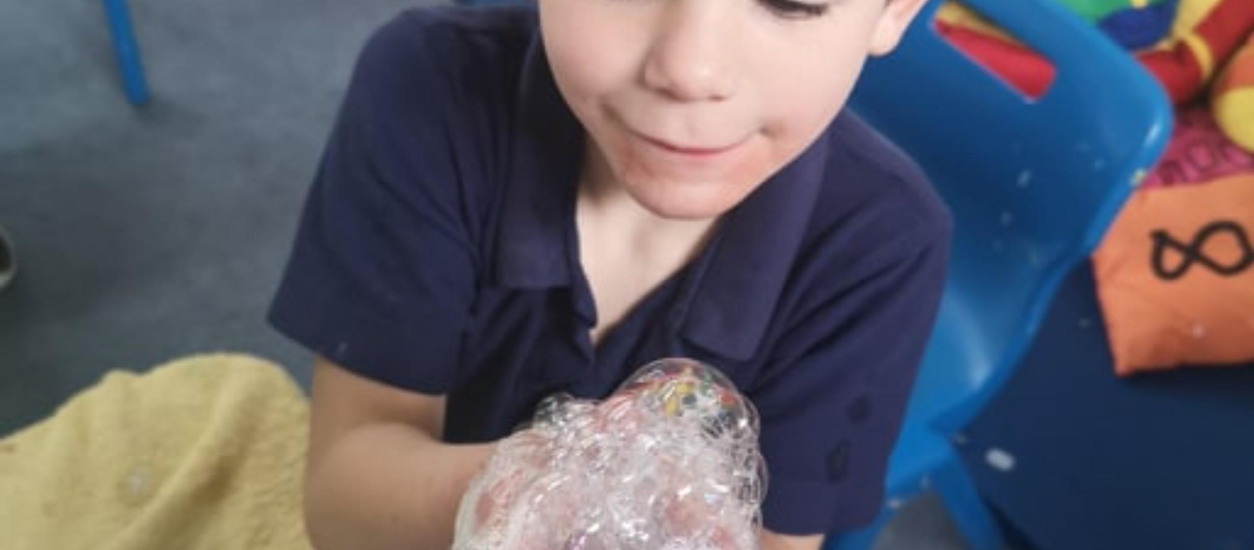 bubble foam messy bubble play sensory sen