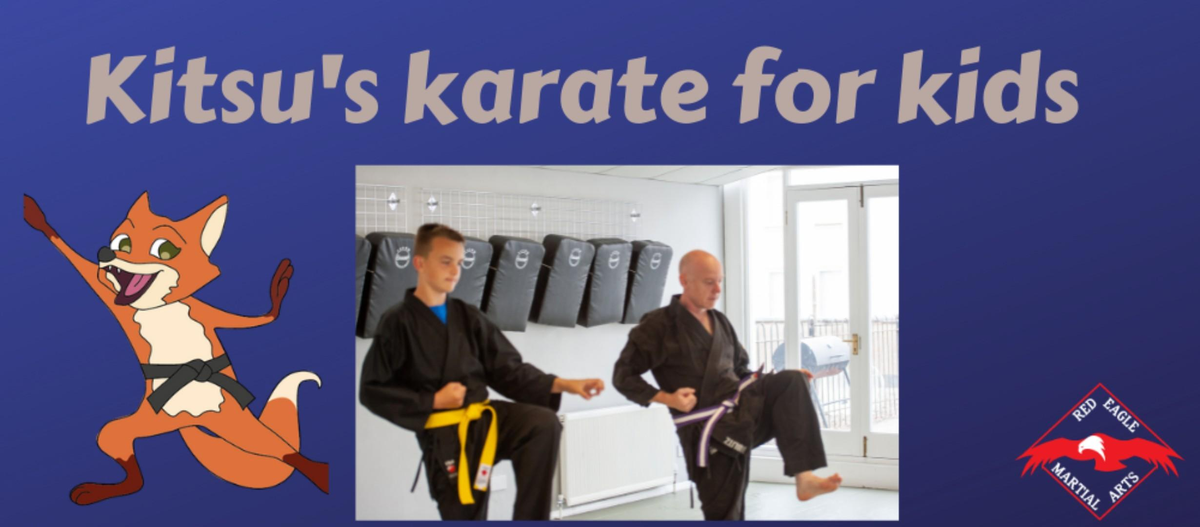 Kitsu's Karate for Kids - Junior karate student training