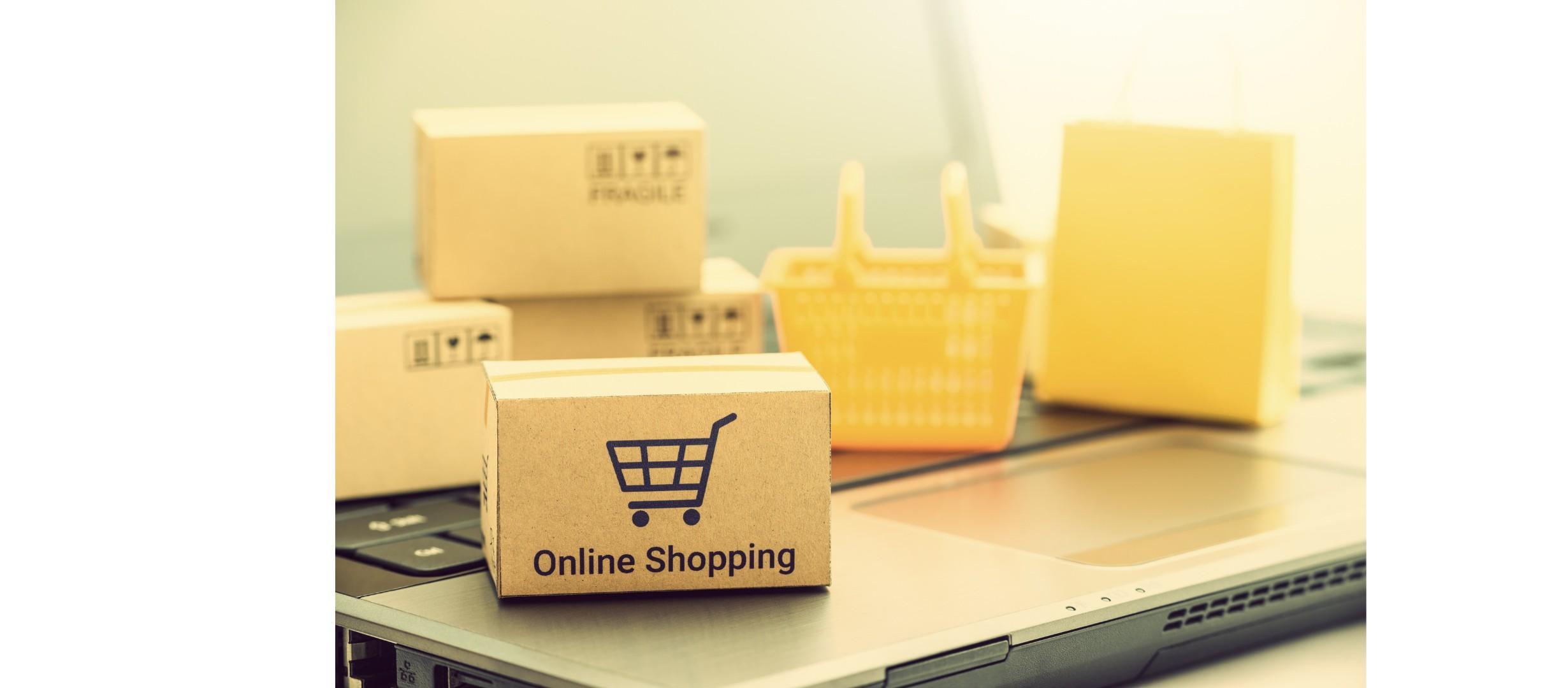 image indicating online shopping