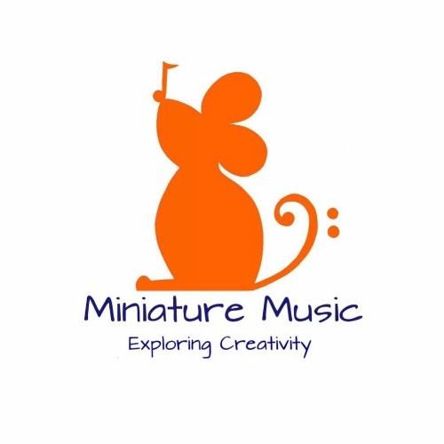 miniature music logo, text reads 'miniature music. exploring creativity'