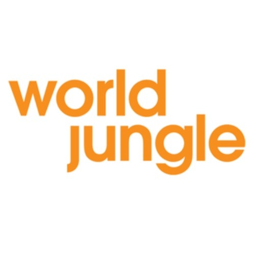 logo, text reads 'world jungle'
